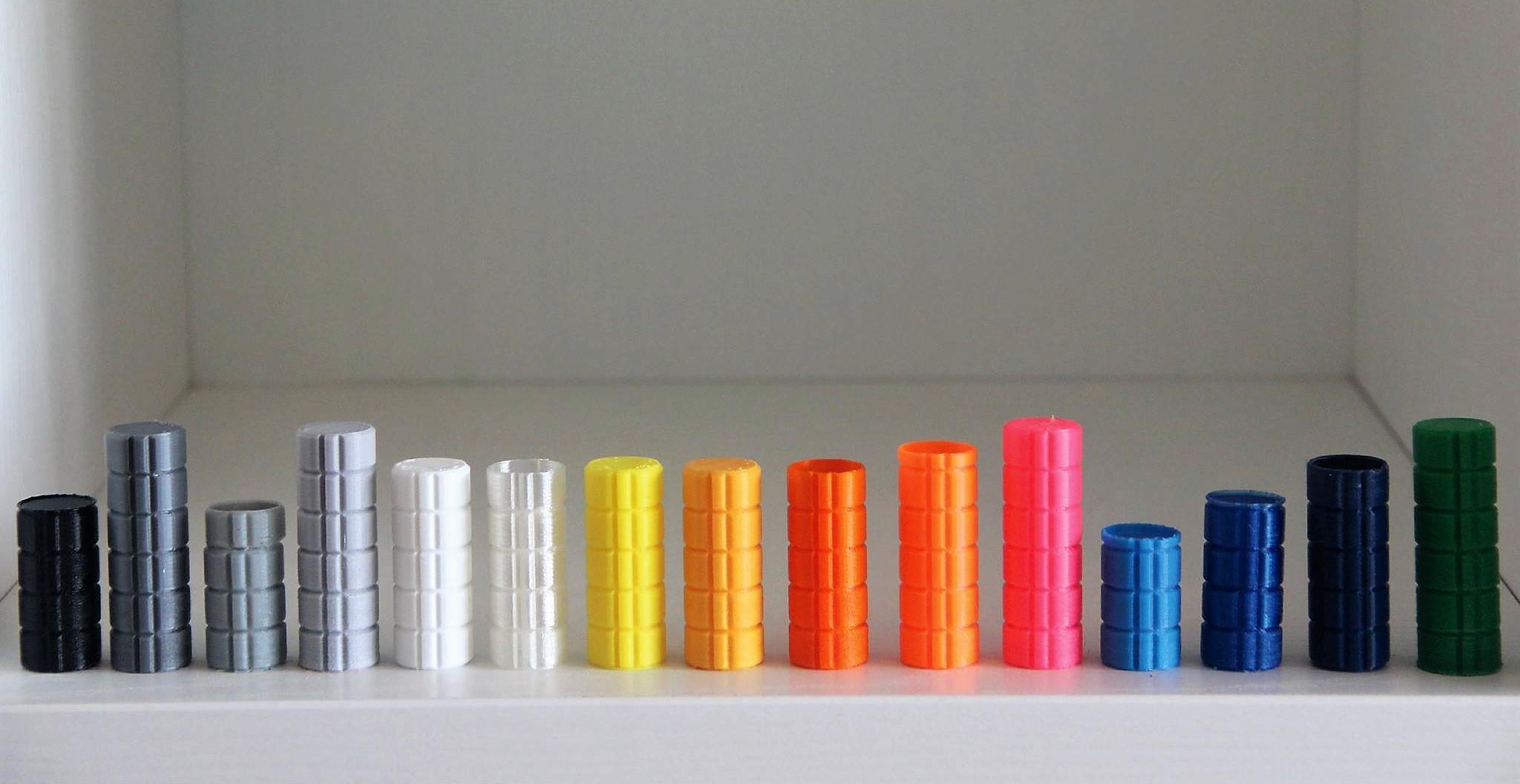 Cores de filamentos de plástico para serviço de impressão 3d