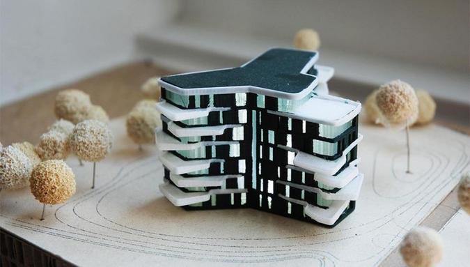 Projeto arquitetônico feito em modelagem para impressão em 3D