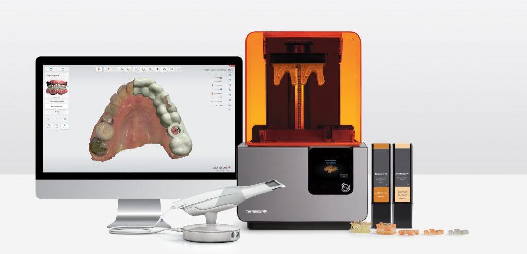 impressão 3d na odontologia: parceria entre formlabs e 3shape