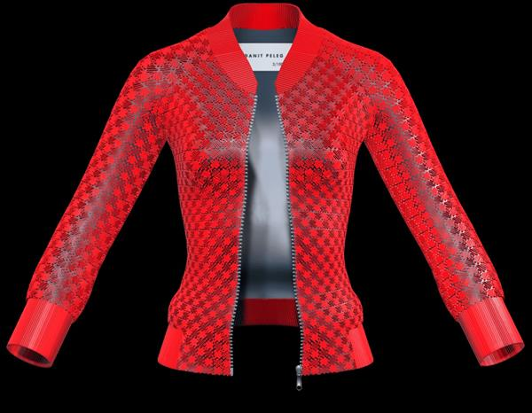 jaqueta feita com a impressão 3D
