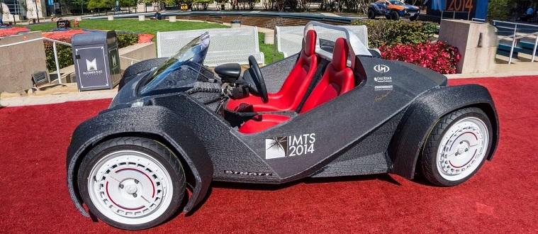 carro feito com a impressão 3D
